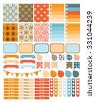 autumn planner sticker set for... | Shutterstock .eps vector #331044239