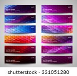 set of abstract banners... | Shutterstock .eps vector #331051280
