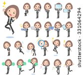 set of various poses of black... | Shutterstock .eps vector #331064294