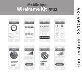 mobile wireframe app ui kit 32. ...