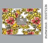 vintage delicate invitation... | Shutterstock .eps vector #331072136