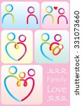 family life icon set  | Shutterstock .eps vector #331073660