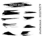 vector set of grunge brush... | Shutterstock .eps vector #331076579