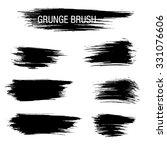 vector set of grunge brush... | Shutterstock .eps vector #331076606