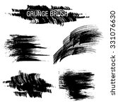 vector set of grunge brush... | Shutterstock .eps vector #331076630