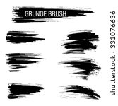 vector set of grunge brush... | Shutterstock .eps vector #331076636