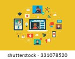 illustration of webinar flat... | Shutterstock .eps vector #331078520