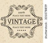 vintage label. calligraphic... | Shutterstock .eps vector #331078859