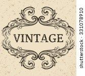 vintage label. calligraphic... | Shutterstock .eps vector #331078910