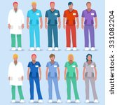 clinic doctor nurse scrub...   Shutterstock .eps vector #331082204