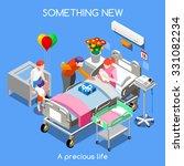 hospital clinic maternity room... | Shutterstock .eps vector #331082234