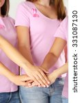 women united with breast cancer ... | Shutterstock . vector #331087130