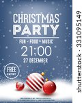 christmas party poster | Shutterstock .eps vector #331095149