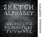 vector hand drawing alphabet.... | Shutterstock .eps vector #331097474