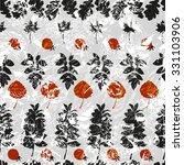 various imprint leaves on...   Shutterstock .eps vector #331103906
