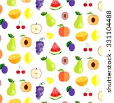 colorful fruit pattern in flat... | Shutterstock .eps vector #331104488