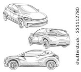 hand drawn sketch car abstract... | Shutterstock .eps vector #331112780
