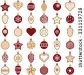 christmas ball collection  ... | Shutterstock .eps vector #331119728
