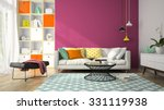 interior of modern design room... | Shutterstock . vector #331119938