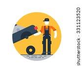 auto service  tyre change | Shutterstock .eps vector #331123520