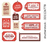 collection of vector christmas... | Shutterstock .eps vector #331126778