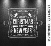 black and white christmas...   Shutterstock .eps vector #331126796