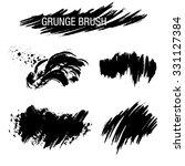 vector set of grunge brush... | Shutterstock .eps vector #331127384