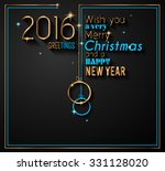 2016 flyer for happy new year... | Shutterstock .eps vector #331128020