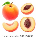 Isolated Peach. Collection Of...
