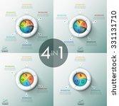 set of 4 modern infographics... | Shutterstock .eps vector #331131710