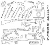 vector sketch big set of... | Shutterstock .eps vector #331133744