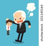 boss and employee. characters.... | Shutterstock .eps vector #331140164