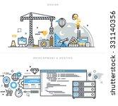 flat line design vector... | Shutterstock .eps vector #331140356