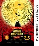 happy halloween. vampire party. ... | Shutterstock .eps vector #331141793