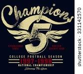 t shirt graphics champions... | Shutterstock .eps vector #331142570