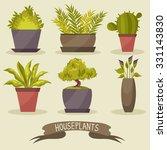 houseplants. set. vector... | Shutterstock .eps vector #331143830