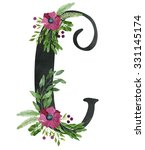 Monogram Letter C Made Of Blac...