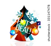 hot deal sale promotion tags...   Shutterstock .eps vector #331147478