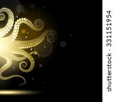 abstract golden tentacles on a... | Shutterstock .eps vector #331151954