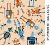 robots of different shapes and... | Shutterstock .eps vector #331152788