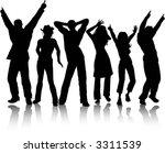 funky dancers   vector | Shutterstock .eps vector #3311539