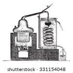 distilling apparatus  vintage... | Shutterstock .eps vector #331154048