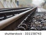 Railway Track On Steel Bridge ...