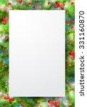border  frame from christmas... | Shutterstock .eps vector #331160870