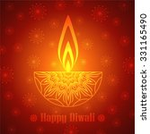 decorative diwali lamp design | Shutterstock .eps vector #331165490
