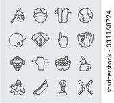 baseball line icon | Shutterstock .eps vector #331168724