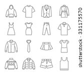 clothes icons  thin line style  | Shutterstock .eps vector #331175570