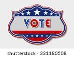 patriotic vote sign | Shutterstock .eps vector #331180508