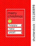 christmas brochure template.... | Shutterstock .eps vector #331180898