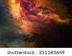 night sky with stars and nebula  | Shutterstock . vector #331183649